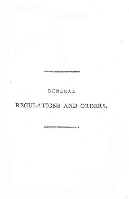 General Regulations and Orders, 1804