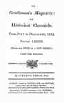 The Gentleman's Magazine and Historical Chronicle - 1812 July to December Index and Supplement