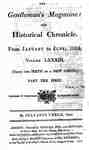 The Gentleman's Magazine and Historical Chronicle - 1813 January to June - Index and Supplements