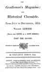 The Gentleman's Magazine and Historical Chronicle - 1813 July to December Index and Supplements