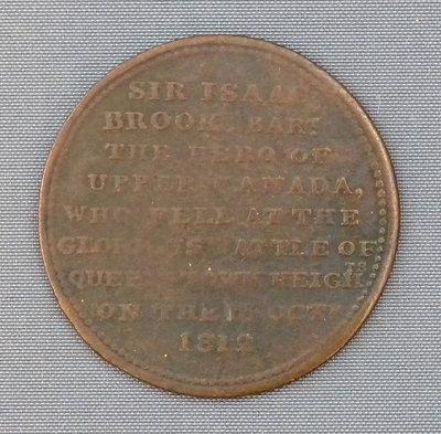 Sir Isaac Brock Commemorative Half-Penny Token