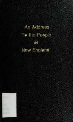 An address, to the people of New-England