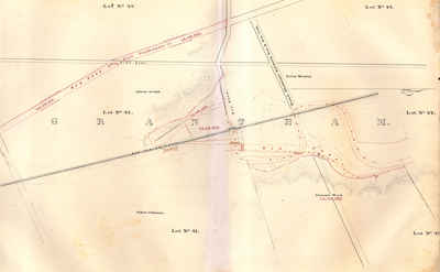 Second Welland Canal - Book 1, Survey Map 3 - Old Lock 2 in Grantham Township