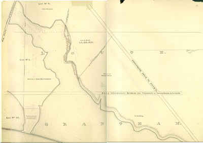 Second Welland Canal - Book 1, Survey Map 8 - Through Grantham and Louth Townships