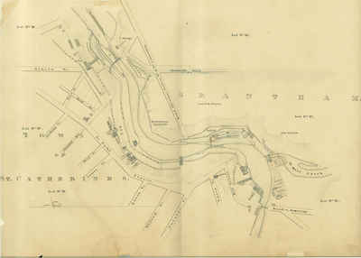 Second Welland Canal - Book 1, Survey Map 11 - St. Catharines and Locks 3 and 4