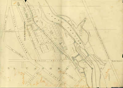 Second Welland Canal - Book 1, Survey Map 12 - St. Catharines and Lock 4