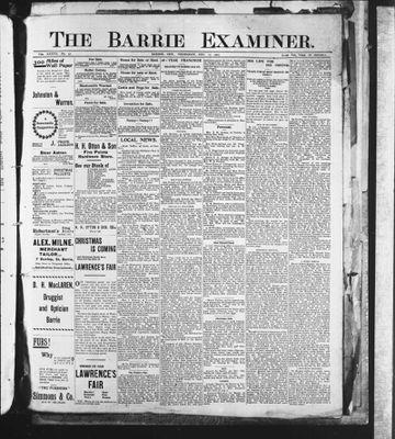Barrie Examiner, 12 Dec 1901
