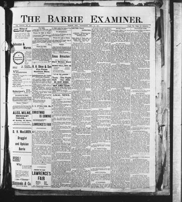 Barrie Examiner, 19 Dec 1901