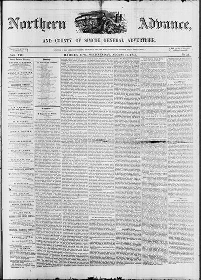 Northern Advance, 17 Aug 1859