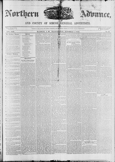 Northern Advance, 5 Oct 1859