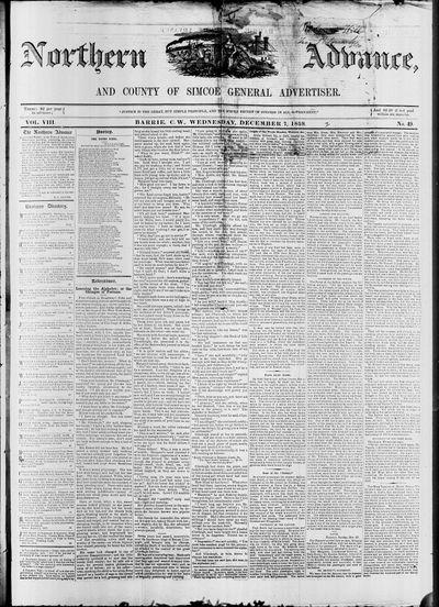 Northern Advance, 7 Dec 1859
