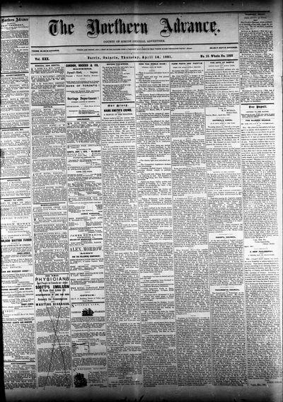 Northern Advance, 14 Apr 1881