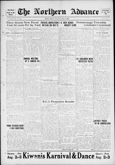 Northern Advance, 5 Jul 1934