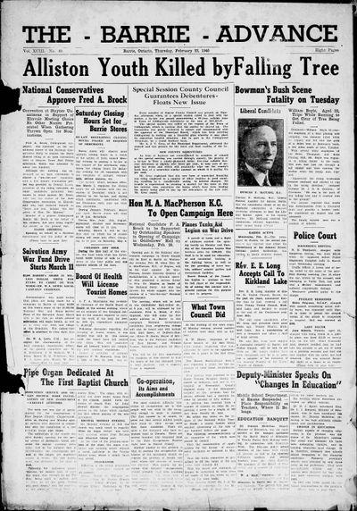 Northern Advance, 22 Feb 1940