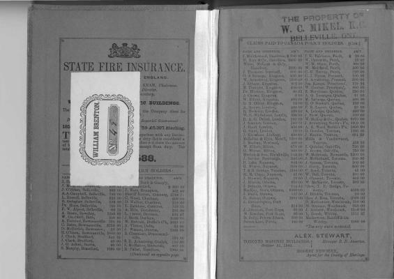 1860-1861 Directory of the County of Hastings