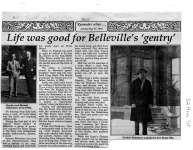 """Life was good for Belleville's """"gentry"""""""