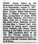 Howe, James Albert (Died)