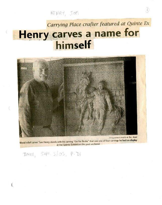 Henry carves a name for himself