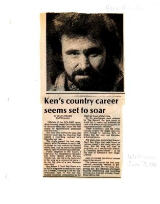 Ken's country career seems set to soar