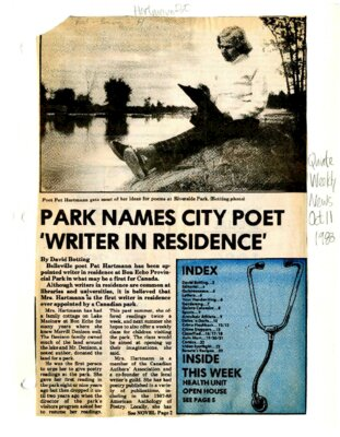 "Park names city poet ""writer in residence"""