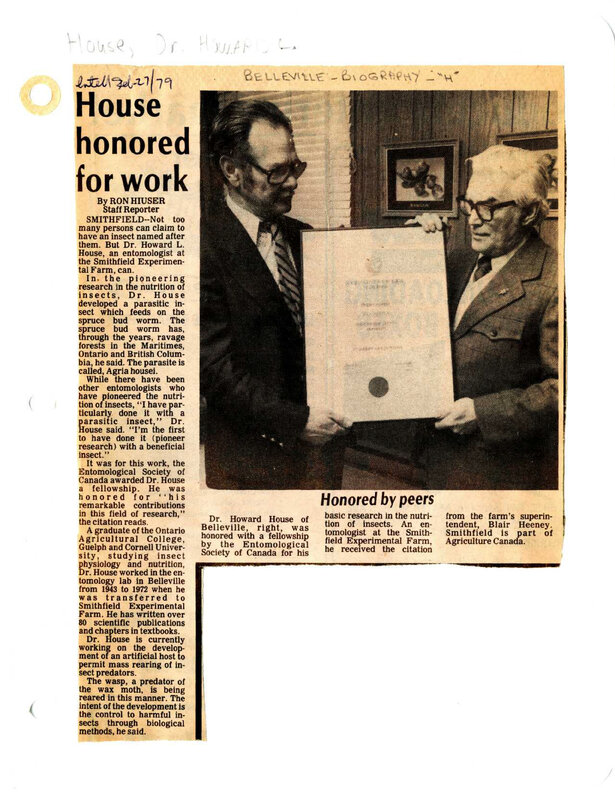 House Honored for Work