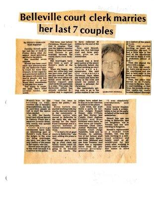 Belleville court clerk marries her last 7 couples