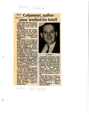 Columnist, author once worked for Intell