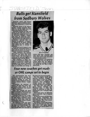 Bulls get Stansfield from Sudbury Wolves