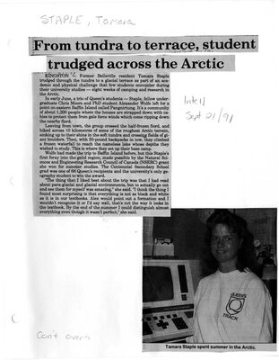 From tundra to terrace, student trudged across the Arctic