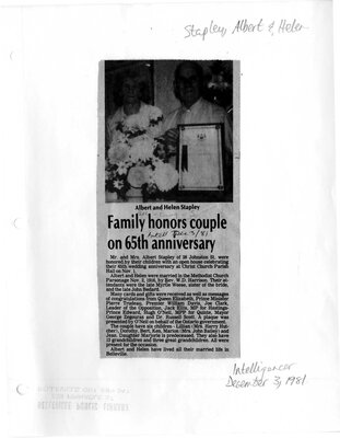 Family honors couple on 65th anniversary