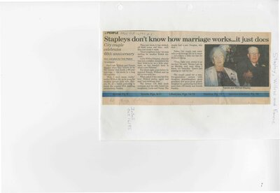 Stapleys don't know how marriage works...it just does