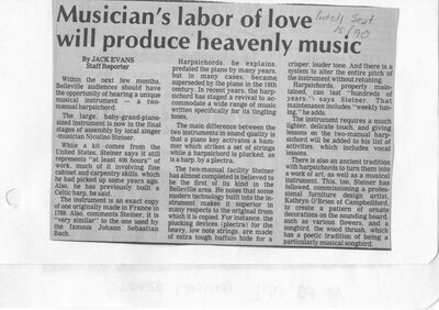 Musician's labour of love will produce heavenly music