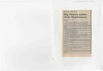 Big Sisters salute Judy Stephanson