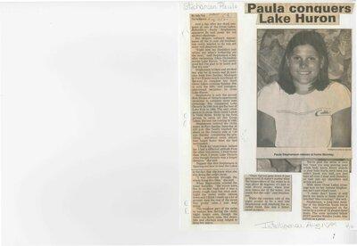 Paula conquers Lake Huron