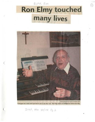 Ron Elmy touched many lives