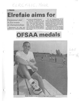 Malek Elrefaie aims for OFSAA medals