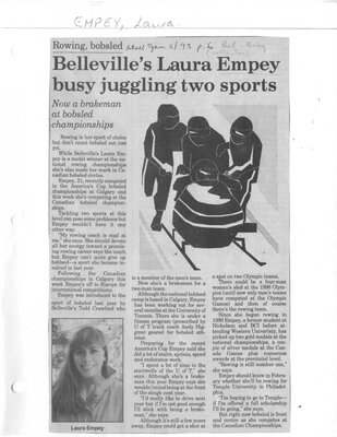 Belleville's Laura Empey busy juggling two sports