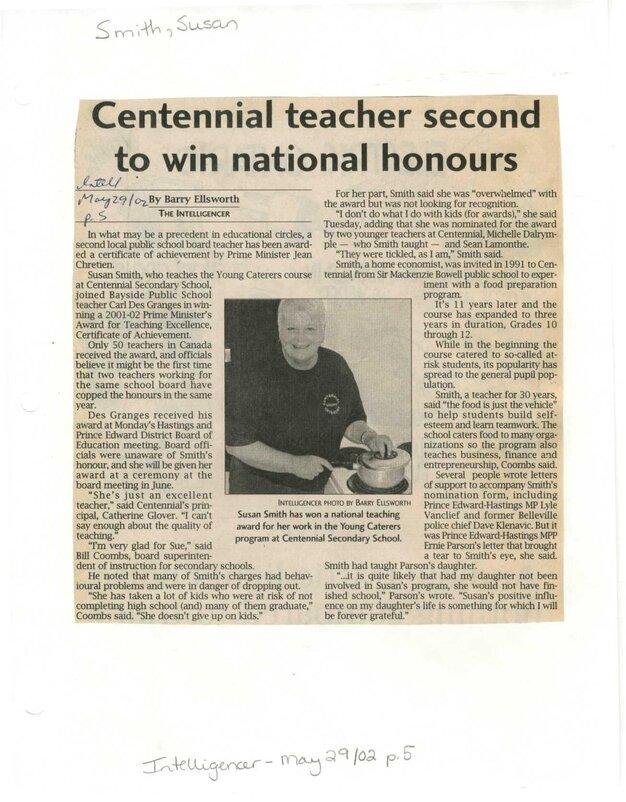 Centennial teacher second to win national honours