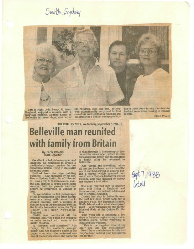 Belleville Man Reunited with family from Britain