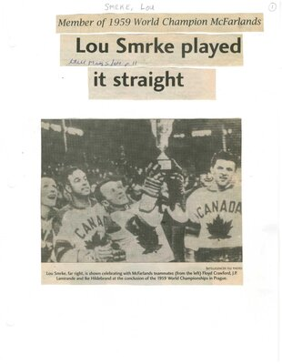 Lou Smrke played it straight