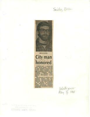 City man honoured