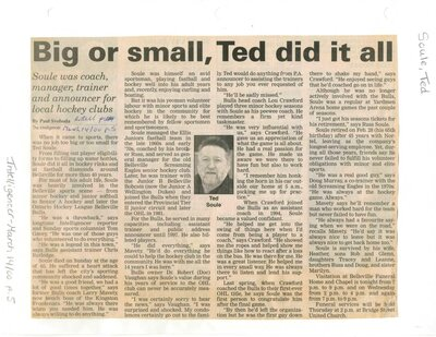 Big or small, Ted did it all