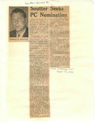 Soutter seeks PC nomination