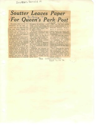 Soutter leaves paper for Queen's Park post