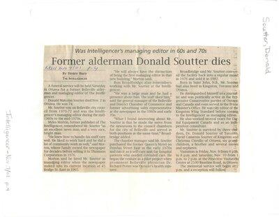 Former Alderman Donald Soutter dies