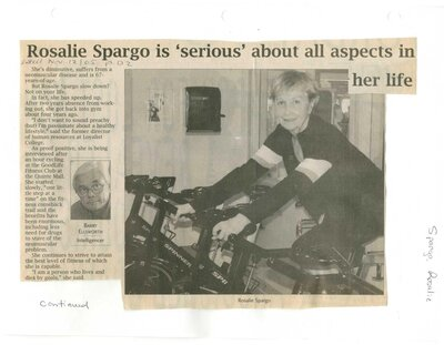 Rosalie Spargo is serious about all aspects in her life