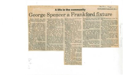George Spencer a Frankford fixture