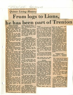 From logs to Lions, he has been part of Trenton