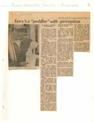 Terry's a peddler with perception
