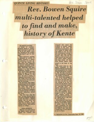 Rev Bowen Squire , multi-talented, helped to find and make history of Kente